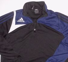 Adidas 1/4 Zip Pullover Sweatshirt Medium Colorblock Black Blue White Clima365