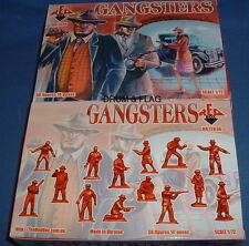 Redbox 72036 gangsters. década De 1920 American. escala 1/72 figuras de plástico.