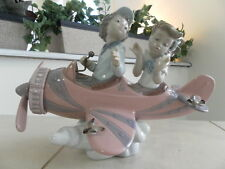 LLADRO AIRPLANE DON'T LOOK DOWN # 5698 MINT CONDITION w/ BOX FAST SHIPPING!!!