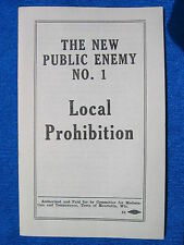 Anti Prohibition Pamphlet The New Public Enemy No.1 Local Alcohol Beer Ban 1934
