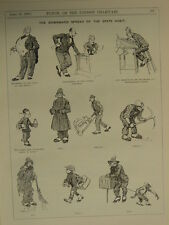 """7x10"""" PUNCH cartoon 1922 THE DOWNWARD SPREAD OF THE SPATS HABIT"""