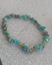 Puce turquoise bead bracelet cristal de guérison