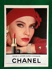 (PCA102) Pubblicità Advertising Ads Werbung CHANEL ROUGE ROSSETTO