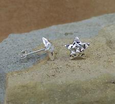 New 925 Sterling Silver Diamond Cut Star Stud Earrings Jewellery