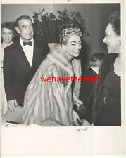 VINTAGE Joan Crawford WITH SILVER HAIR '50s REDBOOK AWARDS Publicity Portrait