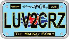 4x7 CUSTOM Disney Cruise Door Magnet - LICENSE PLATE # 1