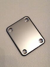 New Chrome Guitar/Bass Neck Plate fits Fender, Squier, Strat, Stratocaster SECO