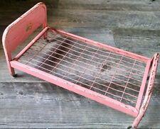 Vintage 1950's AMSCO Doll-E-Bed Pink Metal with Castors