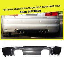 CARBON FIBER CSL STYLE 2-TONE REAR BUMPER DIFFUSER FOR BMW E46 M3 COUPE 2001-06