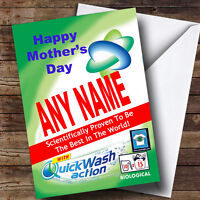 Funny Joke Spoof Washing Powder Personalised Mother's Day Greetings Card