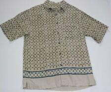 Fieldmaster Short Sleeve Button Down Linen Blend Shirt Size Medium