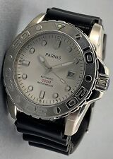 PARNIS 43MM WHITE DIAL 200M YACHT MECHANICAL AUTOMATIC WATCH PA6006