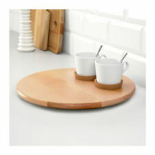 IKEA SNUDDA LAZY SUSAN SOLID BIRCH WOOD TURNING TABLE BASE 39 cm