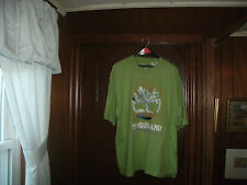 timberland t-shirt S/S lime green with BIG LOGO size large/tall Brand NEW