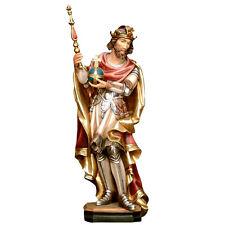 Heiligenfigur König Karl der Große, Holz, woodcarving