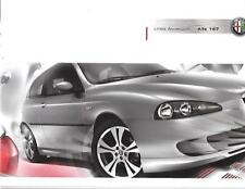 ALFA ROMEO 147  LINEA ACCESSORIES SALES BROCHURE WITH PRICES JULY 2007 FOR 2008