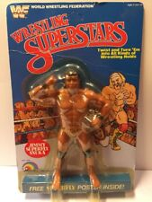 Wwf Ljn Superfly Jimmy Snuka 5 Back UNPUNCHED  Vintage Wrestling Figure MOC