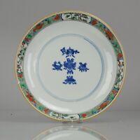 Antique Rare Kangxi Ca 1700 Chinese Porcelain Famille Verte Plate 'Symb...