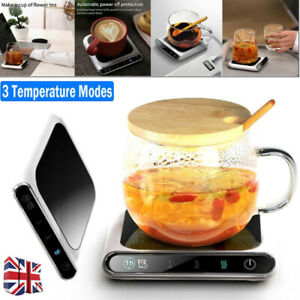 Smart Electric Cup Mug Milk/Coffee/Drink Warmer Heater Tray Mat 3 Modes Heating