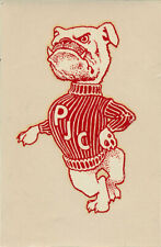 Pasadena Junior College Bulldogs _ORIG_ vtg 1950s Decal Sticker City Community