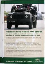 LAND ROVER Defender 90/110 All Terrain - Car Sales Brochure -#LRML 1774 - Span.