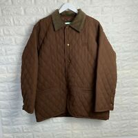 Easy Quilted Jacket Mens Size XL Brown NAZARENO GABRIELLI Coat