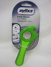 New Zyliss Multi 5 Way Opener Opens Cans Bottles And Jars With Ease Green E24225