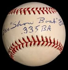 "RARE George ""ShowBoat"" Fisher dec. 94 .335 PSA/DNA Signed Baseball STL Cardinals"