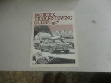 Rare 1983 BUICK Trailer-Towing Guide Brochure
