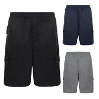 KAM Mens Big Tall Plus Size Cargo Combat Shorts Summer Jersey Gym Half Pants
