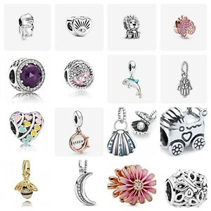 Assorted PANDORA Charms Daisy,Dolphin,Queen Bee,925s +Gift Pouch & Bag-cpan120