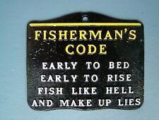 Fisherman'S Code Metal Plaque