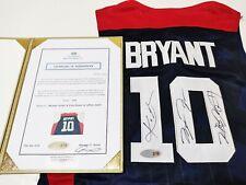 "2012 USA Basketball #10 ""Mamba"" & #23 ""King"" #23 3 Star Autographed Jersey + COA"