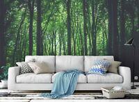 3D Green Forest Self-adhesive Removable Wallpaper Murals Wall Sticker 52