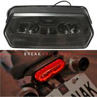 Motorcycle LED Brake Tail Light W/ Turn Signal Indicator For Honda MSX 125 Smoke