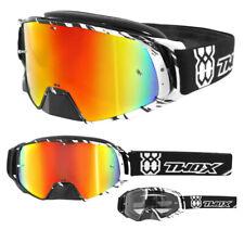 Two-X Rocket Gafas Cross Crush MX Dh Gafas Negro Blanco Espejado Iridio