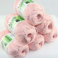 AIP Sale 6 Skeinsx50g Soft Bamboo Cotton Baby Wrap Hand Knitting Crochet Yarn 21