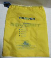 YELLOW ThinkFun Board Game Travel Car DRAWSTRING Storage BAG ONLY for Tip Over