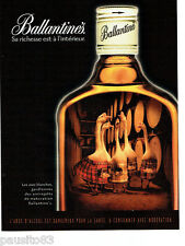 PUBLICITE ADVERTISING 026  1999  Ballentine's  whisky oies blanches