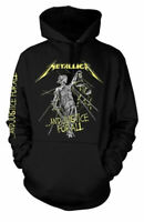 Metallica Hoodie And Justice For All Hooded Top Black Official Rock Metal Band