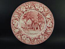 "Adams Staffordshire Jefferson Davis Shrine Beauvoir House Historical Plate 10"""