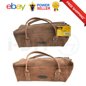 Rolson 450mm Heavy Duty Leather Contractors Tool Bag
