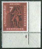 Bund 365 doppelte Formnummer 4 auf 2 postfrisch BRD Eckrand Ecke 4 MNH