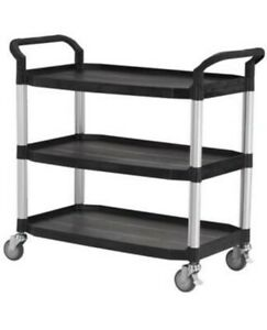 Edulab 612-065 Laboratory Trolley, 3 Shelves, Large, 250 kg NEW