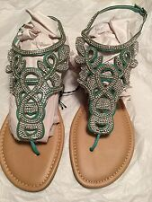 Torrid Women's Shoes Teal Bling Sandals 13w