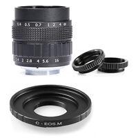 Fujian 50mm F1.4 CCTV TV lens + C-EOS M for Canon Mirrorless Camera EOS M M2 M3