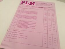 PLM POWER PRODUCTS Little Wonder, Mantis, Shindaiwa Original 1998 Price List