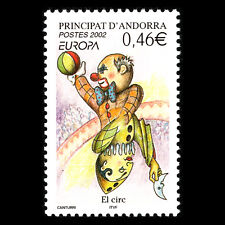 "Andorra 2002 - EUROPA Stamps ""The Circus"" - Sc 559 MNH"