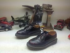 DISTRESSED DR. MARTENS BURGUNDY LEATHER LACE UP WING TIP POWER WALK SHOES 7 M