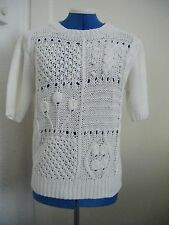 Soft-feel bright white knitted top/jumper size 10/12 NWOT